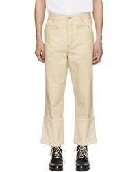 Loewe - White Fisherman Jeans - Lyst