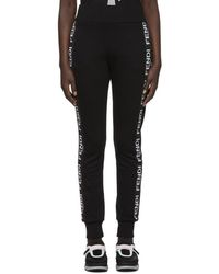 Fendi - Black Roma Band Lounge Trousers - Lyst