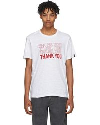 Rag & Bone - White Thank You T-shirt - Lyst