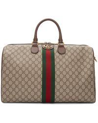 Gucci - Beige Medium Ophidia Duffle Bag - Lyst