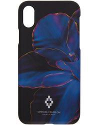 Marcelo Burlon - Black And Blue Flower Iphone X Case - Lyst