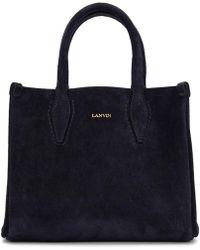 Lanvin - Navy Nano Shopper Tote - Lyst