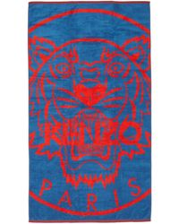 58777b5b60 Kenzo Bamboo Tiger Swim Shorts in Blue for Men - Lyst