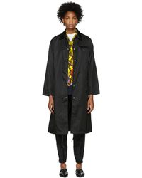 Prada - Black Long Trench Coat - Lyst