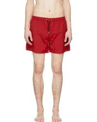 McQ Alexander McQueen | Red Swallow Swim Shorts | Lyst