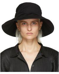 Y's Yohji Yamamoto - Black Panel Crochet Hat - Lyst