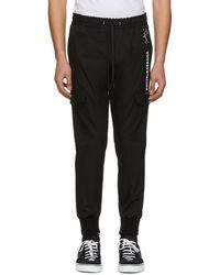 Dolce & Gabbana - Black Drawstring Cargo Pants - Lyst