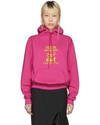 Balenciaga - Pink New Logo Hoodie - Lyst