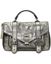 Proenza Schouler Silver Tiny Ps1and Messenger Bag