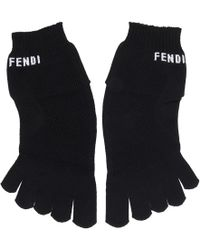 deef6031a2903 Fendi Monster Eye Gloves in Black for Men - Lyst