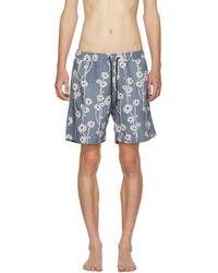 Saturdays NYC - Blue Timothy Poppy Swim Shorts - Lyst
