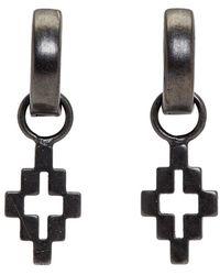 Marcelo Burlon Black Cross Drop Earrings