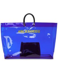 DSquared² - Blue Pvc Blessed2 Tote - Lyst