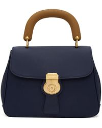 Burberry - Blue Contrast Duffle Bag - Lyst