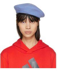Gosha Rubchinskiy - Blue Stephen Jones Edition Military Beret - Lyst