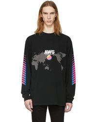 Alexander Wang - Black Long Sleeve Awg Corporate T-shirt - Lyst