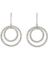 Isabel Marant - Silver Concentric Circles Earrings - Lyst