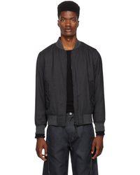 Rag & Bone - Reversible Grey Wool Bomber Jacket - Lyst