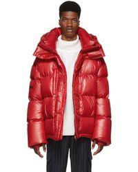 Juun.J - Red Down Puffer Jacket - Lyst