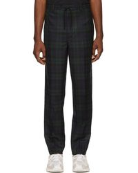 Alexander Wang - Black Plaid Tailored Trousers - Lyst
