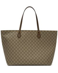 88061fd79d85 Gucci Reversible Gg Leather Tote in Pink - Lyst