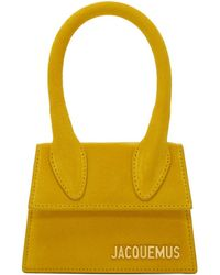 Jacquemus - Yellow Suede Le Sac Chiquito Clutch - Lyst