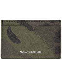 Alexander McQueen - Khaki Camouflage Dancing Skeleton Card Holder - Lyst