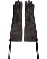Ann Demeulemeester - Black Leather Joris Gloves - Lyst