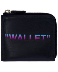 Off-White c/o Virgil Abloh - Blue Quote Zip Wallet - Lyst