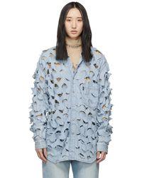 Vetements - Blue Levis Edition Denim Cut-out Shirt - Lyst