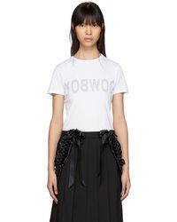 Helmut Lang - White Re-edition Cowboy T-shirt - Lyst