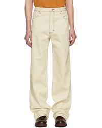 Eckhaus Latta - Off-white Wide-leg Jeans - Lyst