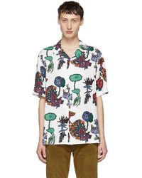 Paul Smith - White Floral Camp Collar Shirt - Lyst