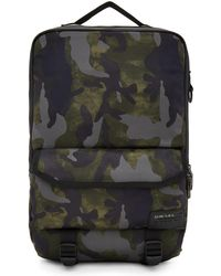 DIESEL - Green Camo F-close Backpack - Lyst