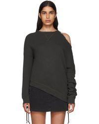R13 - Black Distorted Sweatshirt - Lyst