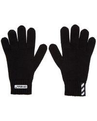 Off-White c/o Virgil Abloh - Black Wool Logo Gloves - Lyst