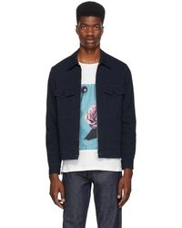 PS by Paul Smith - Navy Canvas Short Jacket - Lyst