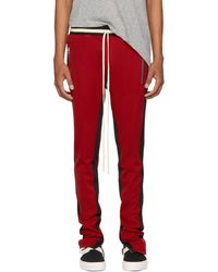 Fear Of God - Red Double Stripe Lounge Trousers - Lyst
