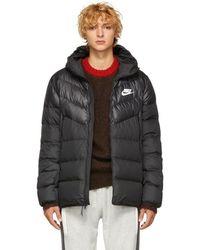 Nike - Black Down Windrunner Jacket - Lyst