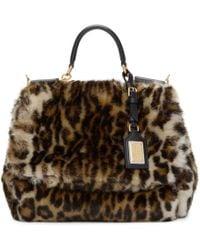9f9087b4a075 Dolce   Gabbana - Multicolor Miss Sicily Leopard Eco-fur Bag - Lyst