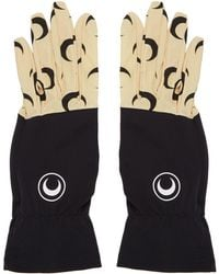 Marine Serre - Black And Tan Moon Gloves - Lyst