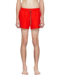 PS by Paul Smith - Red Zebra Logo Swim Shorts - Lyst