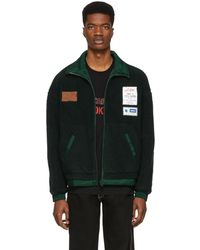 ADER error - Reversible Green Fleece Jacket - Lyst
