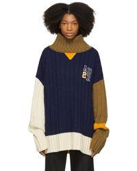 ADER error - Navy Color Balance Sweater - Lyst