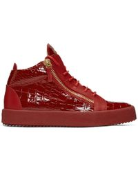 Popular Sale Online Free Shipping Really Giuseppe Zanotti Patent Croc May London High-Top Sneakers Sale Pay With Visa Extremely Fast Delivery Online DvSRtj8