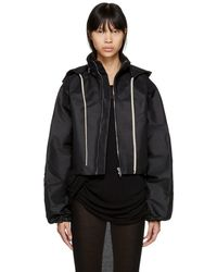 Rick Owens - Black Cropped Windbreaker Jacket - Lyst