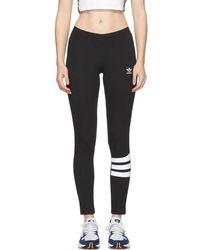 adidas Originals - Black Logo Leggings - Lyst