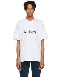 Burberry - ホワイト ビンテージ ロゴ Lopori T シャツ - Lyst