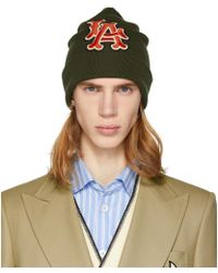 Gucci - Green La Dodgers Edition Patch Beanie - Lyst