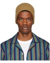 Paul Smith - Beige Cashmere Beanie - Lyst